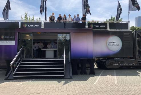 """Trilux Truck Tour 2018"" in Riga"