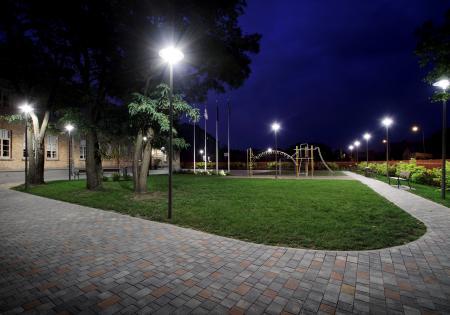 Ventspils park and street lighting